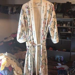 Vintage Adonna robe floral large women's